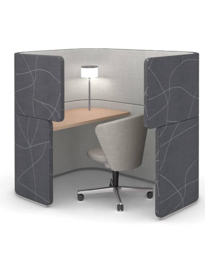 Uredski namjestaj Bene DOCKLANDS Dock-In Bay pregradni sustav za open space urede s Bay chair posjetiteljskom stolicom