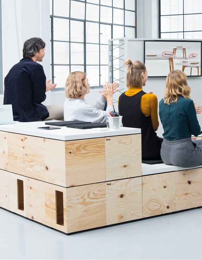 Bene uredski namjestaj PIXEL modularni sustav za timski rad