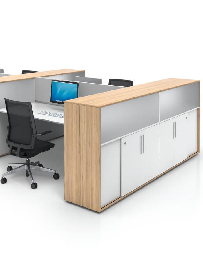Cube S uredski ormari kao pregradna rjesenja za radne stolove
