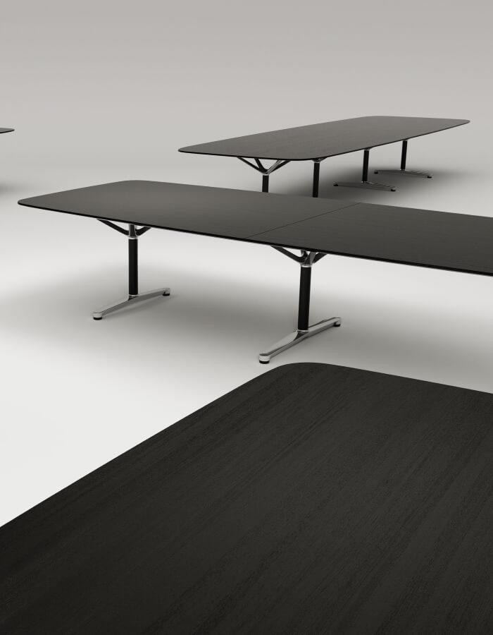 FILO konferencijski stolovi s crnim radnim by Bene