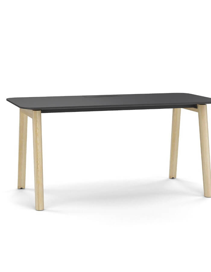 radni stol NOVA WOOD Narbutas s tamnom radnom plohom