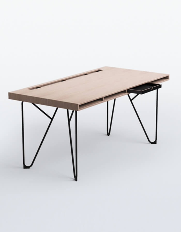 Studio by Bene radni stols drevnom plohom