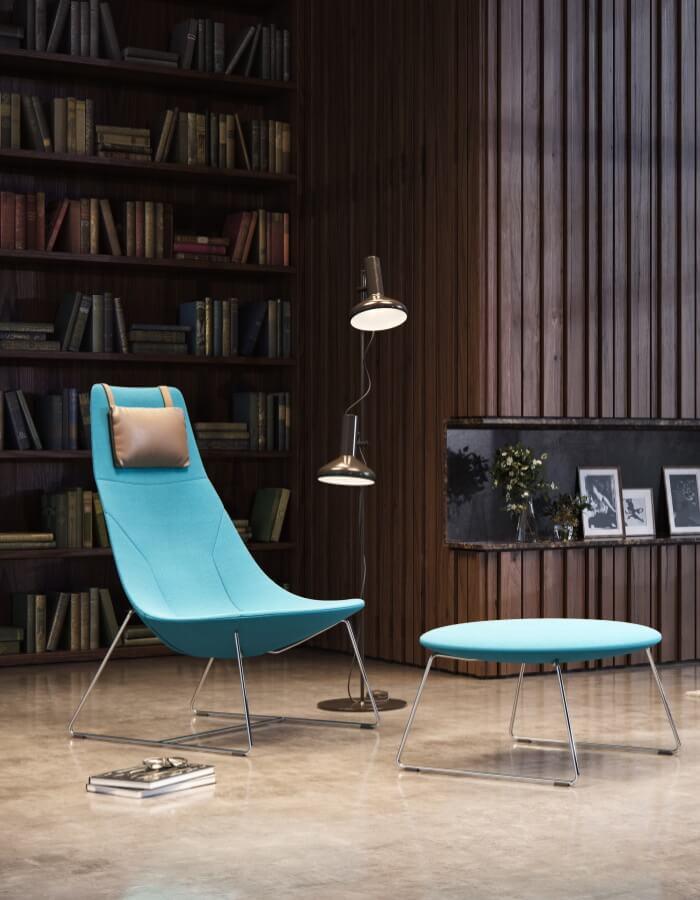 chic lounge uredska fotelja s jastukom