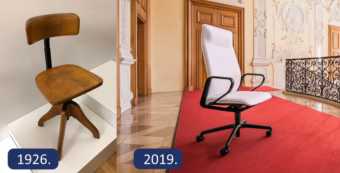ergonomske uredske stolice kroz povijest