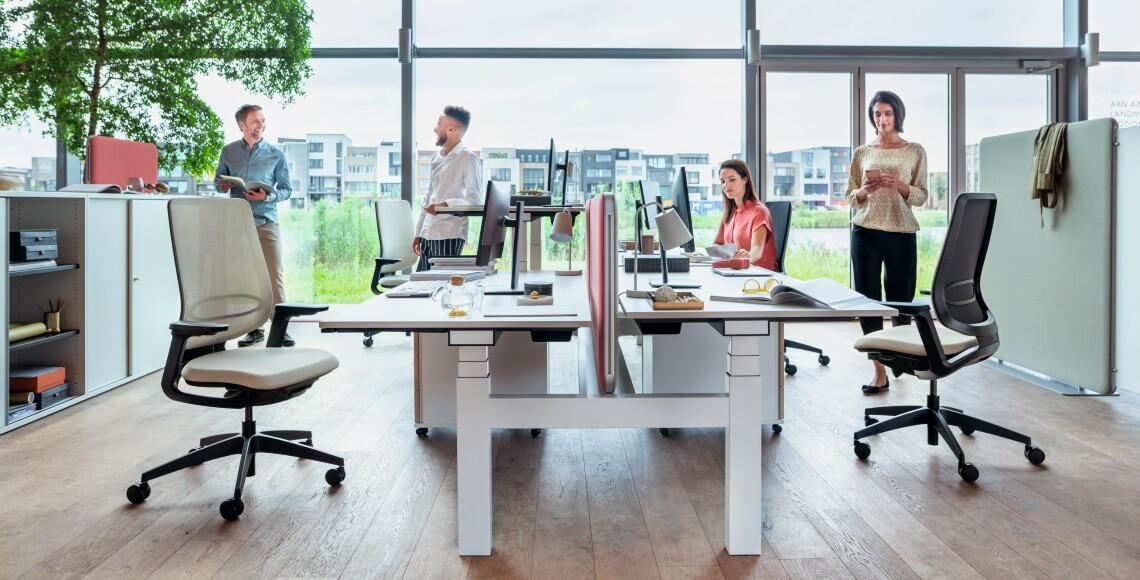 temptation smart radni stolovi i se:flex ergonomske uredske stolice