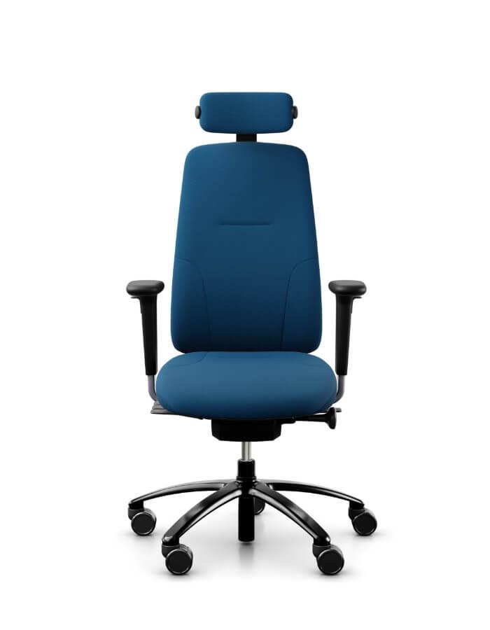 uredska stolica rh new logic 24 u plavoj tkanini s glavonaslonom