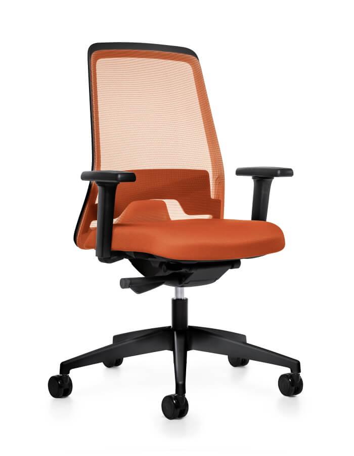 prikaz EVERYis1 Interstuhl uredske stolice s prozirnim naslonom