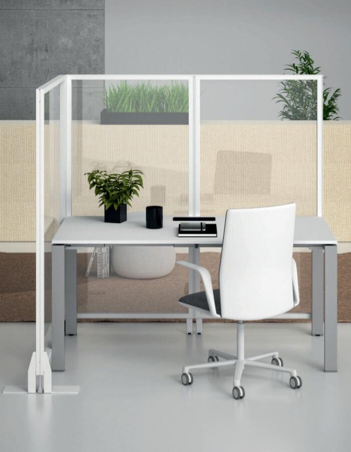 Kubick glass pregradni panel za radno mjesto