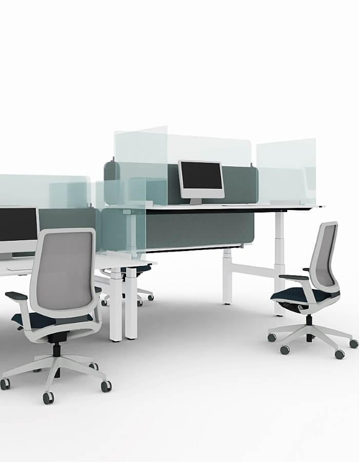 Sedus pleksiglas pregrade na radnom stolu